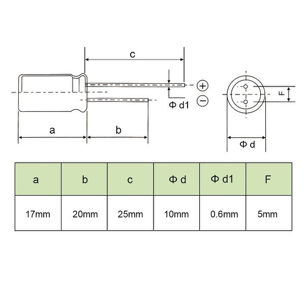 50pcs 1000uF 25V 10mm*17mm Radial Electrolytic Capacitors NEW
