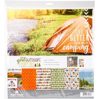"""Paper House Paper Crafting Kit 12""""X12""""-The Great Outdoors Camping"""
