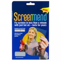 """ScreenMend 04549 Adhesive-Coated Screen Repair Patch, Silver, 5"""" x 7"""", 2-Pack"""