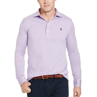 Polo Ralph Lauren Big and Tall Purple Jacquard Pullover Shirt 2XLT Tall