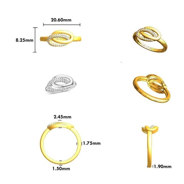 Prism Jewel 0.06CT G-H//I1 Natural Diamond Light WeightV Shape Ring