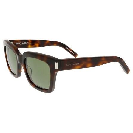 417bda9a0c6 Shop Saint Laurent SL BOLD 1-003 Havana Square Sunglasses - Free Shipping  Today - Overstock.com - 13402145