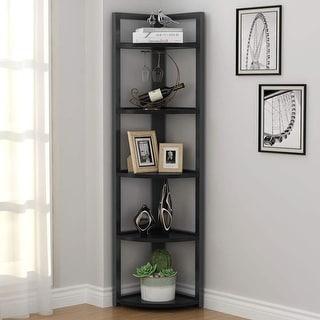 5-tier Corner Shelf, Corner Storage Rack Plant Stand Small Bookshelf for Living Room, Home Office, Kitchen, Small Space