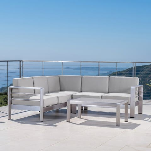 Cape Coral Outdoor 5-Seater Sectional Set by Christopher Knight Home