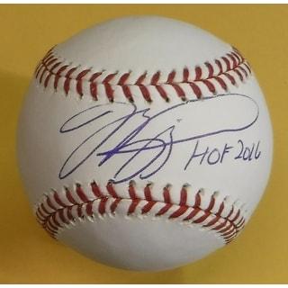 Mike Piazza Autographed New York Mets OML Baseball HOF 16 PSADNA