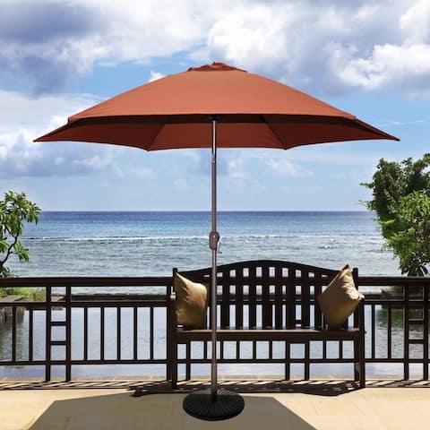 Tropishade 9 ft. Aluminum Bronze Patio Umbrella with Rust Cover