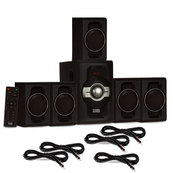 Acoustic Audio AA5240 Home Theater 5.1 Bluetooth Speaker System & 5 Ext. Cables