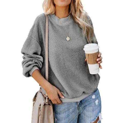 Women's Fleece Pullover Jacket Outwear Sweatshirt Winter Coat