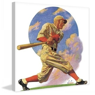 Marmont Hill Baseball Batter Fine art canvas print from the Marmont Hill Art Collective