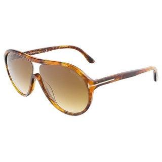 Tom Ford FT0443/S 50F EDISON Havana Oval sunglasses