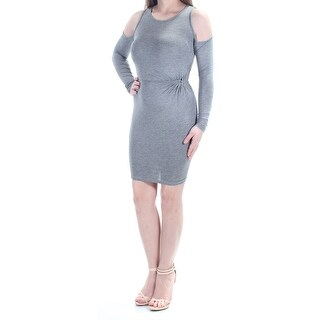 ULTRA FLIRT $22 Womens New 1142 Gray Body Con Dress 2XS Juniors B+B
