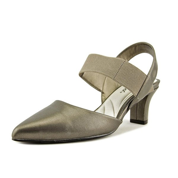 Easy Street Vibrant Women WW Pointed Toe Synthetic Slingback Heel