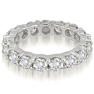 3.40 cttw. 14K White Gold Round Diamond Eternity Ring