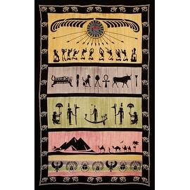 Handmade 100% Cotton Eye of Horus Tapestry Tablecloth Throw Spread Dorm Decor Beach Sheet Full 88x104