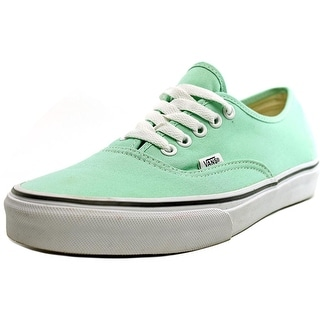 Vans Authentic Men  Round Toe Canvas Green Sneakers