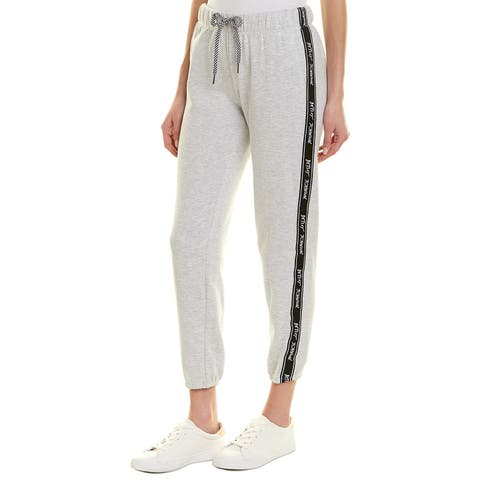 Betsey Johnson Performance Logo Tape Sweatpant - LIGHT HEATHER GREY