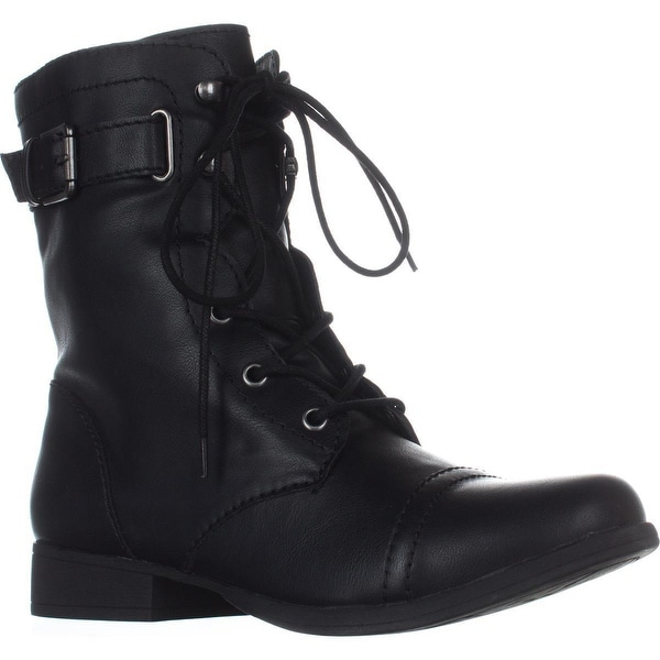 AR35 Fionn Combat Boots, Black