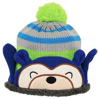Wippette Boys Winter Polar Teddy Bear Sweater Fleece Lined Pom Pom Hat size 2-4T - toddler boys