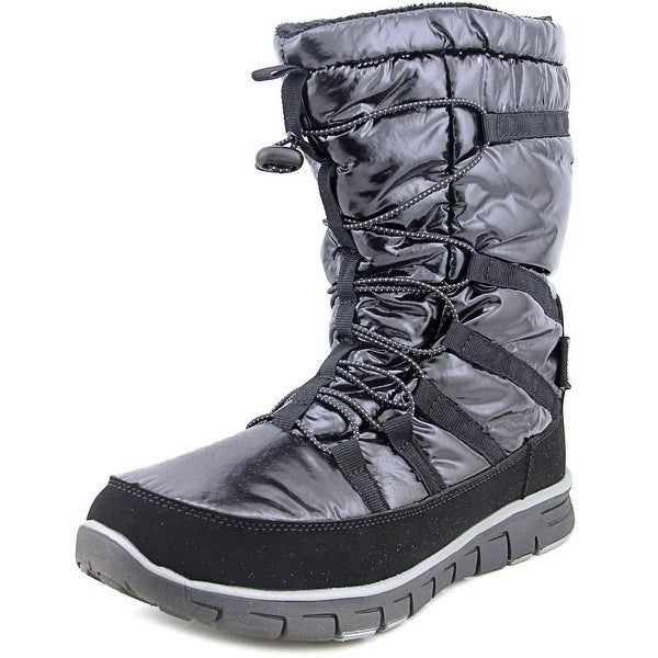 Khombu Alta M Women Round Toe Synthetic Black Snow Boot
