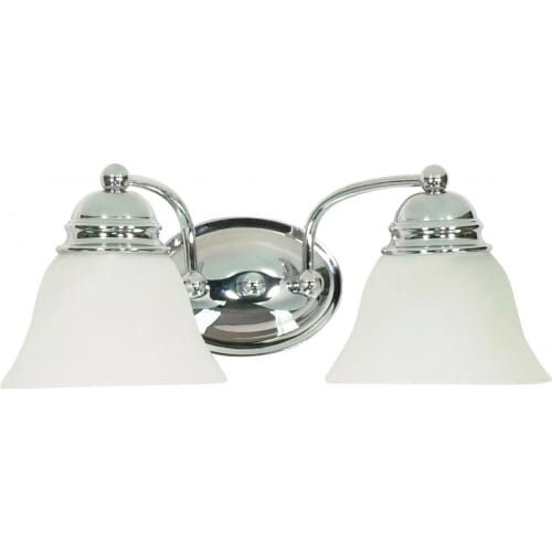 """Nuvo Lighting 60/337 Two Light Reversible Lighting 14.875"""" Wide Bathroom Fixture from the Empire Collection"""