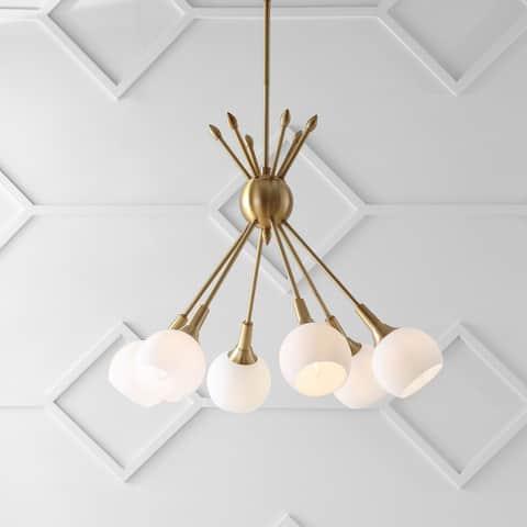 "SAFAVIEH Lighting Justine Adjustable 6-light Brass Gold Pendant - 22""x22""x18-54"""