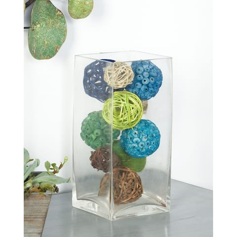 Blue Dried Plant Material Coastal Orbs & Vase Filler Nature (Set of 3) - 6 x 6 x 10Round