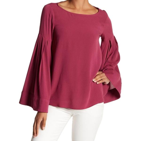 4e7449260a5 Shop Ro   De Purple Women s Size Small S Pleated Bell-Sleeve Blouse ...