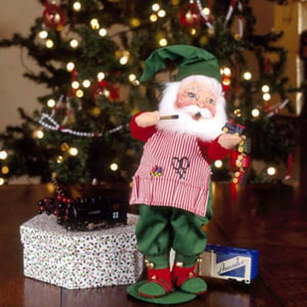 annalee 13 workshop santa christmas doll 581006 - Annalee Christmas Decorations