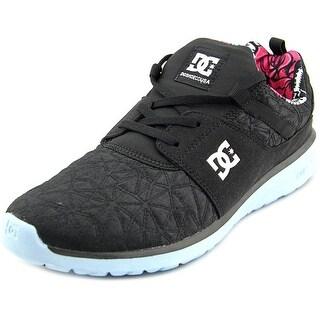 DC Shoes Heathrow Women Round Toe Canvas Black Skate Shoe