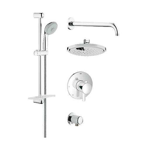 Grohe 35 051 Grohflex Pressure Balanced Shower System Includes Head Hand