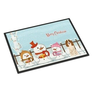 Carolines Treasures BB2362JMAT Merry Christmas Carolers Russian Spaniel Indoor or Outdoor Mat 24 x 0.25 x 36 in.