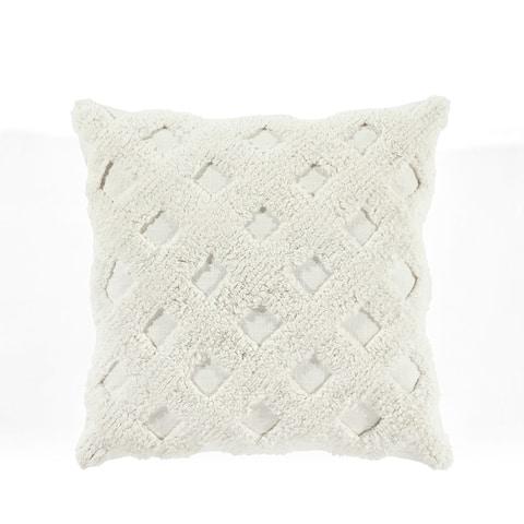 Lush Decor Tufted Diagonal Decorative Pillow Cover