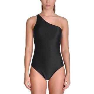 Lauren Ralph Lauren Womens Textured Solid One-Piece Swimsuit
