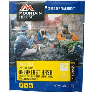 Mountain house 53174 mountain house spicy southwest breakfast hash 2-3/4 cup srvng