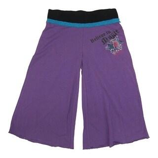 Disney Girls Purple Wizard Of Waverly Place Bottom Bell Pants 7-16