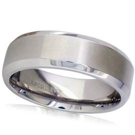 Oxford Ivy 7mm Beveled Edge Comfort Fit Titanium Wedding Ring