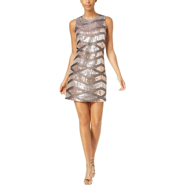 Vince Camuto Womens Cocktail Dress Sequined Mini. Opens flyout.