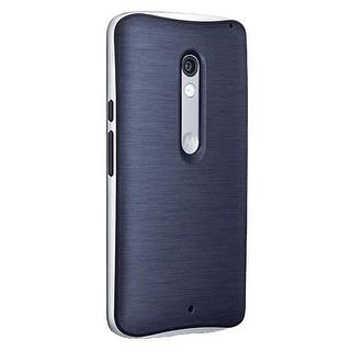 Verizon Soft Bumper Case for Motorola Droid Maxx 2 XT1565 - Blue/Silver