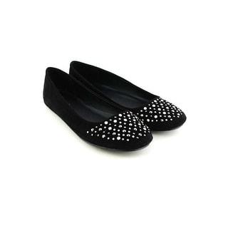 Soda Women Akia Flats-Shoes - black lami - 7.5 b(m) us