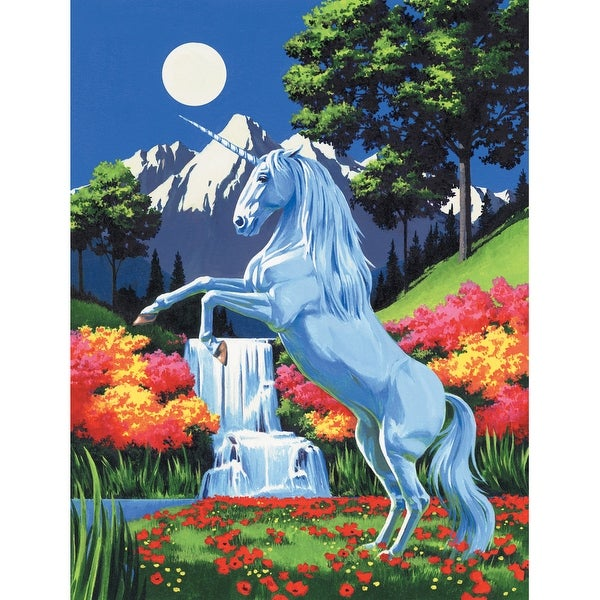 "Paint By Number Kit Artist Canvas Series 9""X12""-Unicorn"