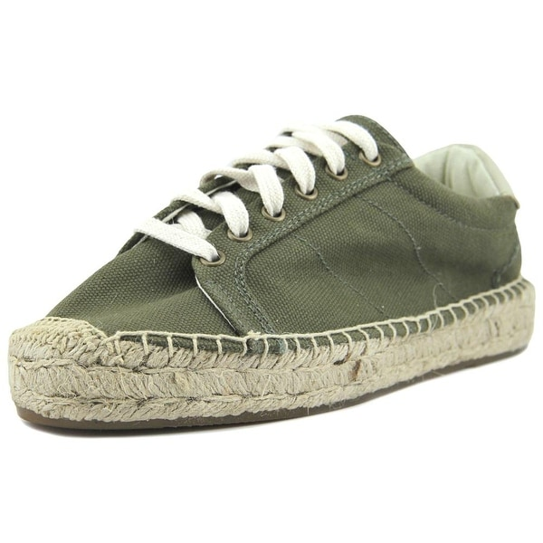 Soludos Platform Tennis Sneaker Women Canvas Green Fashion Sneakers