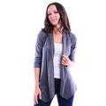 Simply Ravishing Women's Basic 3/4 Sleeve Open Cardigan (Size: Small-5X) - Thumbnail 6