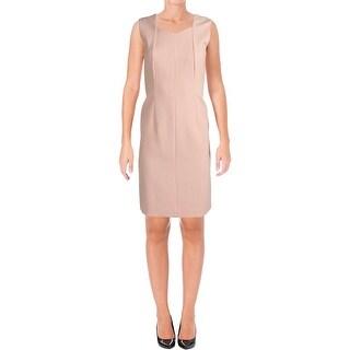 BOSS Hugo Boss Womens Dilunea Wear to Work Dress Seamed Sleeveless