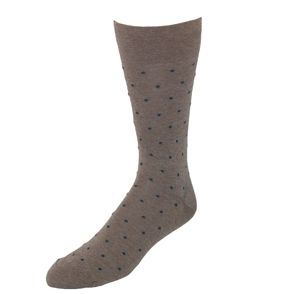 Marcoliani Men's Pima Cotton Polka Dot Dress Socks
