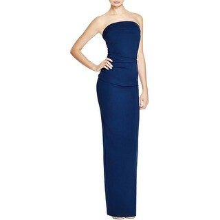 Nicole Bakti Womens Formal Dress Strapless Ruffled