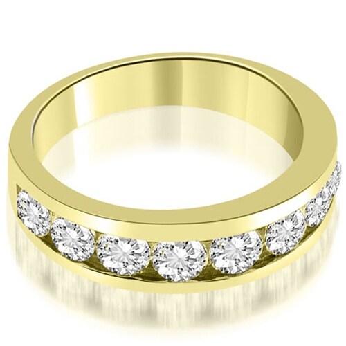 1.80 cttw. 14K Yellow Gold Classic Channel Round Cut Diamond Wedding Band