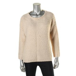Zara Knit Womens Wool Blend Ribbed Trim Pullover Sweater - M