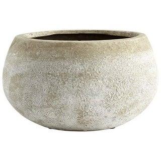 Cyan Design Small Round Stoney Planter Stoney 4.75 Inch Tall Terracotta Planter