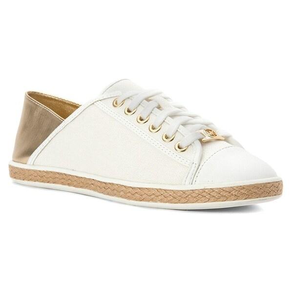 MICHAEL Michael Kors Womens Kristy Slide Leather Low Top Lace Up Fashion Snea...