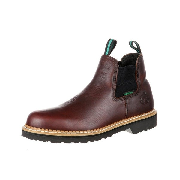 Georgia Boot Work Mens ST Waterproof Romeo Leather Soggy Brown